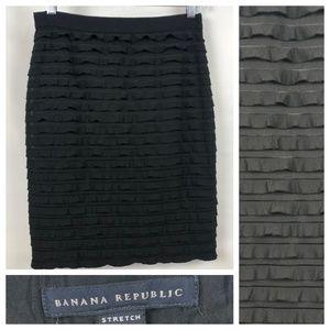 Banana Republic tiered ruffle pencil skirt, EUC